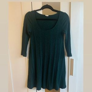 Dark green knit skater dress by Garage